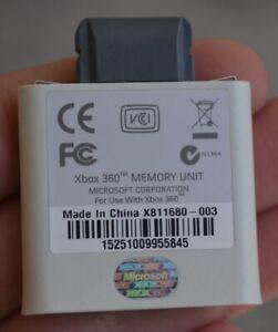 OEM XBOX 360 Memory Card Unit 512MB minty used WHITE