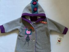New Girls Tuff Kookooshka Owl Luna Fleece Jacket Sz-12-18 Months