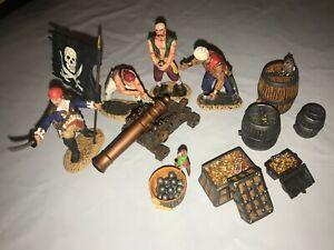 CONTE PIRATES Black Sails Blackbeard Gun Crew #1 PIR022 4figs flag cannon barrel