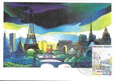 CARTE MAXIMUM - FRANCE- PARIS BASTILLE  - 1989 PREMIER JOUR