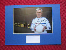CHELSEA MANAGER JOSE MOURINHO GENUINE HAND SIGNED A3 MOUNTED PHOTO DISPLAY - COA