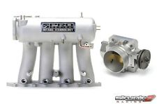 SKUNK2 Intake Manifold Pro Silver+Throttle Body 68mm 93-01 Prelude H22A1/H22A4