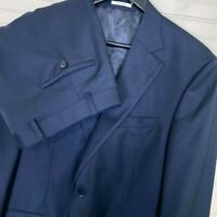 Peter Millar Flynn SB 2 Pc. 100% Wool Suit Navy Blue Men's Size 42R/42W