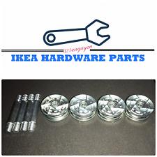 4 IKEA CAM LOCK WHEEL NUTS & Cam Lock Screw for MALM / BRIMNES Bed Frame 114670