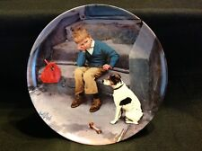 "Bing Grondahl Kurt Ard 1984 "" Hiemme er bedst "" "" Home is Best"" Collector Plate"