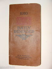 1910 Louisville & Nashville Railroad Daily Reminder Pocket Diary w/ maps, data