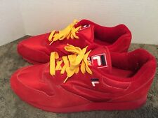 Rare Vintage Fila Retro Size 12 Men's All Red stackhouse New OG Balance