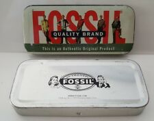 Authentic Fossil Tin Holiday Money Gift Box Empty Glasses Case 1999 Original 90s
