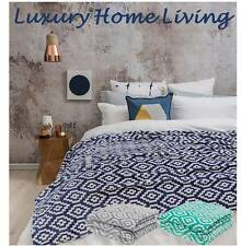 King or Queen Blanket, Bambury Chelsea Geometric: Soft Ultraplush Bed, Throw