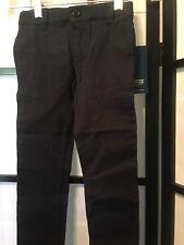 Cherokee Girls' Uniform Stretch Twill Skinny Pant, Navy, Size 4
