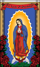 Our Lady of Guadalupe with Roses Flag 3x5 Polyester