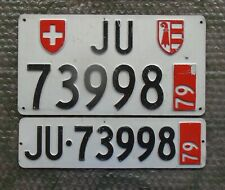 SWITZERLAND LICENSE PLATE PAIR 1979 ORIGINAL