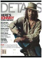 Details Magazine October 2001 Johnny Depp Michael Vick Elton John Scott Caan