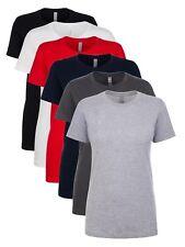 Next Level Ladies Womens Boyfriend BLUE WHITE RED BLACK GREY Cotton Tee T-Shirt