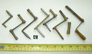 Assorted Antique Longcase Clock CRANK KEYS (all damaged for repairs/spares)