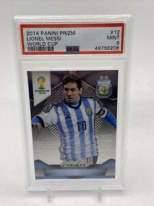 2014 Panini Prizm World Cup Lionel Messi PSA 9 Mint #12