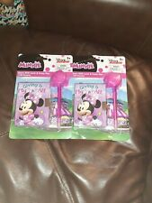 2 Disney Junior minnie Diary With Lock And Fuzzy Pen 2×180 sheets