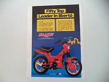 advertising Pubblicità 1986 MALAGUTI FIFTY TOP 50
