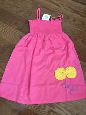 NWT NEW Hanna Andersson Pink Smockle Sundress Sun Dress 120
