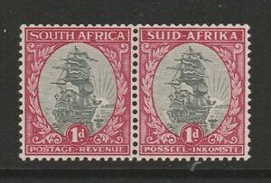 South Africa 1933-48 1d Grey & carmine perf 13½ x 14 Variety R 4/3 SG 56dw Mnh.
