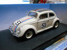 VW Volkswagen Beetle Käfer HERBIE 1962 #53 Kino Movi Hot Wheels Found 1:18