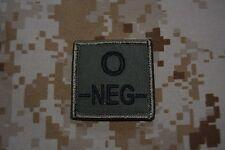 G014 grade militaire galon Armée insigne Airsoft Groupe Sanguin O Négatif