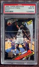 1992 TOPPS ARCHIVES GOLD #150 SHAQUILLE O'NEAL PSA 9!