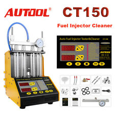 Autool CT150 4-Cylinder Ultrasonic Fuel Injector Tester Cleaner For Petrol Car