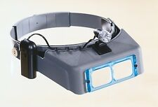 "Donegan OptiVISOR DA5 2 1/2 X Power at 8"" with LT-06 Light"