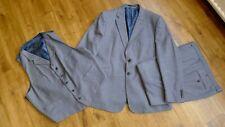 Duchamp London blue 3 pieces suit size 46 R Tailored Fit