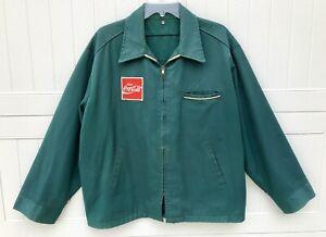 Genuine Vintage Green Coca-Cola (Coke) Authentic Uniform Delivery Jacket