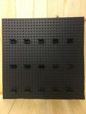 LEGO DISPLAY BACKING BOARD PLATE FOR 15 MINIFIGS MINI FIGS BLACK FOR IKEA RIBBA