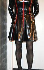 FANTASTIC SO SEXY BLACK AND RED PVC SKATER DRESS MISTRESS DOMINA  CD/TV MISFITZ