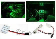 2x T10 & Festoon Universal 12 SMD Neon Green LED Panel Interior Dome Map Light