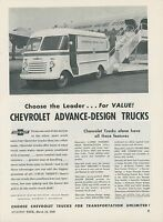 1949 Chevrolet Commercial Trucks Ad Scandinavian Airlines Delivery Chevy SAS