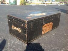 "50""L USA AMERICAN EMBASSY TRUNK CHEST FOOT LOCKER COLOMBO CEYLON VINTAGE $499"