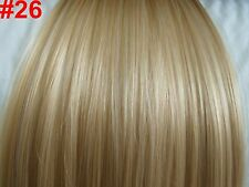 "24"" Clip in Hair Extensions Straight Golden Blonde #26 One Piece"