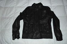 Authentic D&G Dolce & Gabbana Mens Black Leather Jacket Size 54