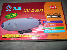 UV Lamp Light with Built-In Pump for Aquarium and Pond. Use Only Few Hrs Weekly.