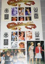 ZAMBIA SAMBIA 1998 Klb 744-55 Block 32-33 706-09 Diana Princess of Wales MNH