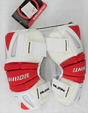 """WARRIOR """"Burn"""" Lacrosse Arm Pads, Red and White, Size Large, NWT"""