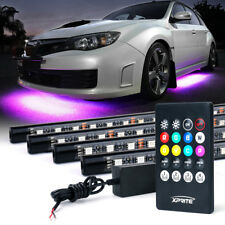 8 Color RGB LED Strip Under Car Tube Underglow Underbody System Lights Kit