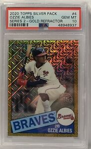 Ozzie Albies 2020 Topps SILVER PACK GOLD REFRACTOR PSA 10 GEM MINT # 29/50