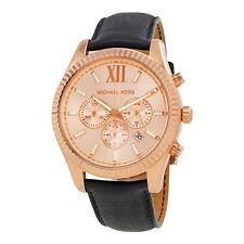 Michael Kors Lexington Rose Gold Tone Dial Mens Chronograph Watch MK8516