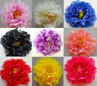 "'Penelope' Large Silk 17cm (7"") Millinery Peony Flower Hat Mount - 9 Colours!"