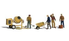 Woodland Scenics A1901 Masonary Workers Figures Set (Pk11) HO Gauge