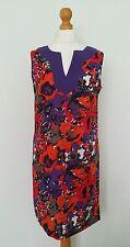 Great Plains Orange Purple Red Floral Print Dress Size S