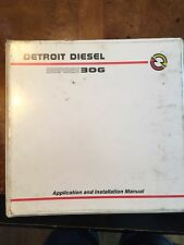 Detroit Diesel Series 30G Application And Installation Manual 7SA726 1996