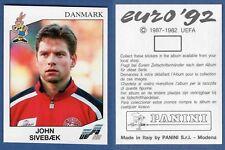 349 DANMARK SIVEBAEK WITH BACK VERY GOOD//MINT Panini WC MEXICO 86 STICKER N