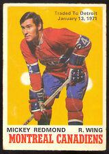 1970 71 OPC O PEE CHEE #175 MICKEY REDMOND VG MONTREAL CANADIENS HOCKEY CARD
